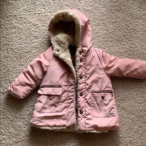 Pink Zara winter jacket